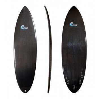 Soulr Round Tail Carbon Fiber Surfboard with Channel Bottom