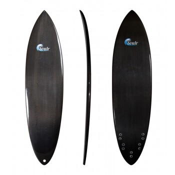 Soulr Carbon Fiber Pin Tail Surfboard