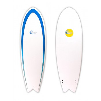 Soulr Twin Fin Retro Fish Surfboard
