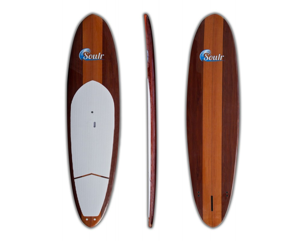Stand Up Paddle Boards >> 11 6 Dark Woody Sup Best Mahogny Amp Maple Wood Grain Stand Up