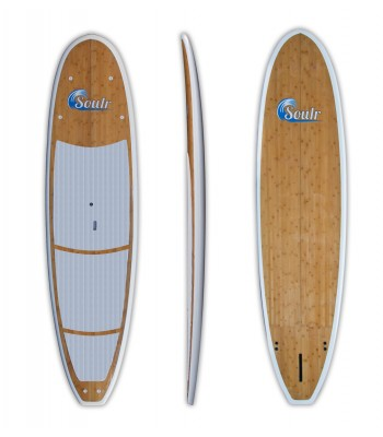"""11'0"""" Soulr Yoga - Bamboo Stand Up Paddle Board"""
