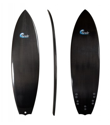 Soulr Bat Tail Carbon Fiber Surfboard
